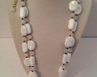 """Joan Rivers Necklace,Joan Rivers White Opaque Bead Necklace 48"""""""