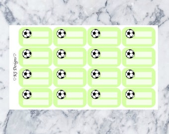 Soccer Practice/Game || 16 Planner Stickers