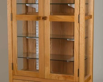 Red Oak Display Cabinet