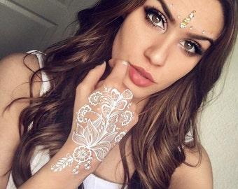 Henna Tattoo (White or Maroon) Temporary Tattoo