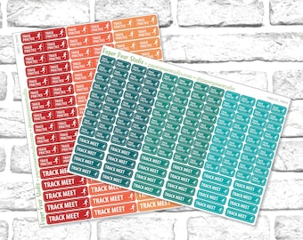 Track Practice & Meet Sticker Set for Passion Planner