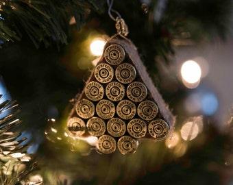 Bullet Christmas ornament, 9mm bullet, handmade ornament, gun lover gift, 2nd amendment, Military, Veteran, Soldier, Police gift, gun stuff