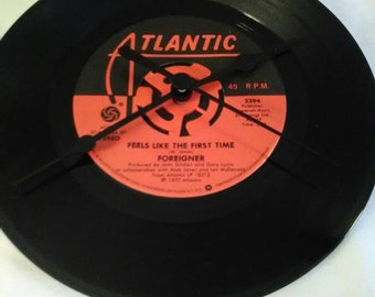 Foreigner 45 Record Clock - Feels Like The First Time
