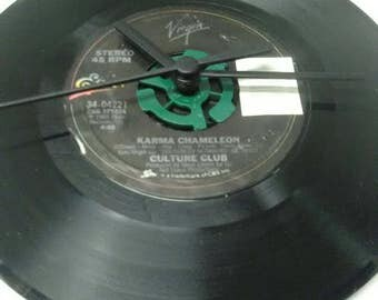 Culture Club 45 Record Clock - Karma Chameleon