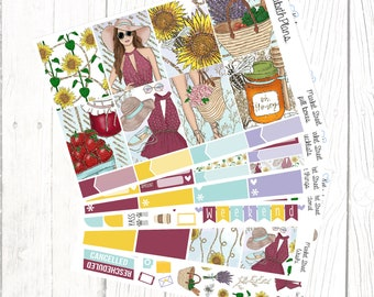 Market Street | Summer, Farmers Market, Fruit, Girly, Fashion, Planner Stickers, FULL KIT