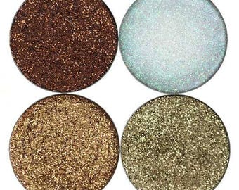 All That Glitters! Browns and Golds Multi Tonal Pressed Glitter Eyeshadow Collection