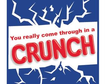 Crunch Bar Gift Tag