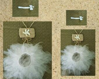 Infant Girls' Crochet Bandeau Top, Starfish Headband & Tutu