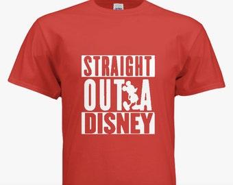 ALL SIZES Disney Unisex Tshirt/Mens/Womens Straight Out Of Disney Shirt/Disney Shirt/Mens Disney Shirt/Womens Disney Shirt/Mickey Mouse
