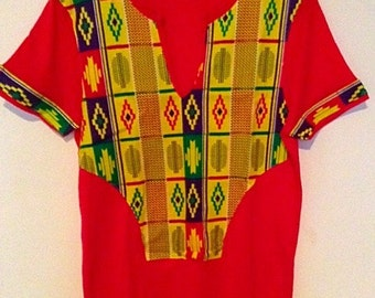 Red Lemon Kantel African print t-shirt