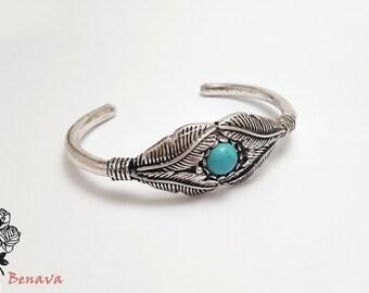 Vintage bracelet turquoise silver bracelet