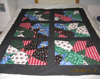Stained Glass Christmas Quilt Top