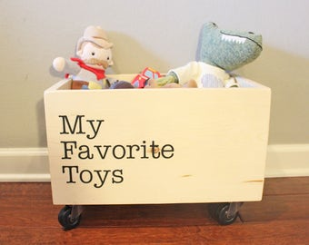 My Favorite Toys Rolling Toybox