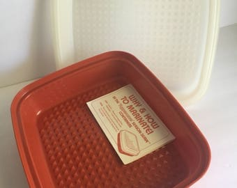 Vintage Tupperware Season-Serve NEW Old Stock Red Marinade Container