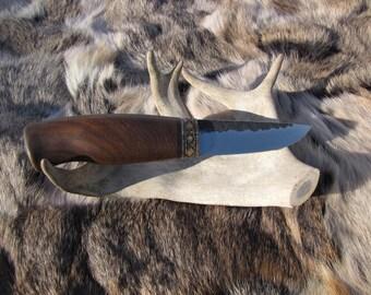 Hand forged scandinavian knife, etnic knife, viking knife, custom knife, High carbon steel knife