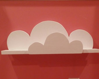 Kid's cloud shelf, kid's book shelf, book shelf, cloud shelf, wooden shelf