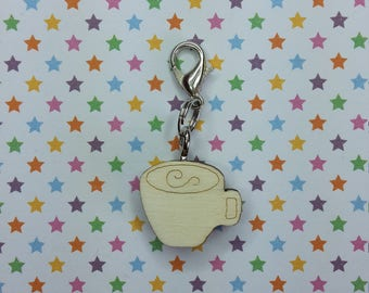 Latte - progress keeper - knitting notions - charm