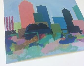 High Quality Premium Giclee Fine art city skyline home decor PRINT