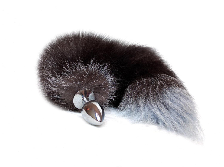 ass plug tail Long fox tail butt plug - Wolf tail anal plug - Beginner anal sex - BDSM