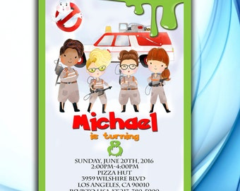 Ghostbusters Birthday Invitation, Ghostbusters Birthday, Ghostbusters party