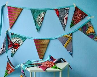 African fabric flags | Batik Bunting
