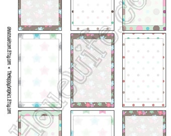 Happy Planner stickers [194] , Full box, A5 PDF, Instant download