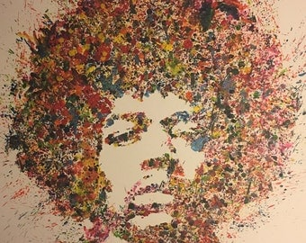 Jimi Hendrix Color-Splash Portrait