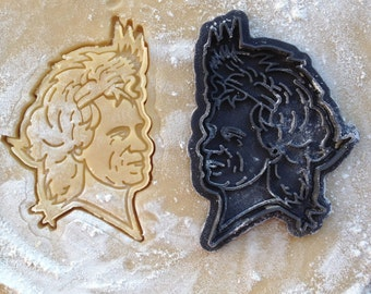 Keith Richards face cookie cutter. Rolling Stones cookie cutter. Keith Richards cookies