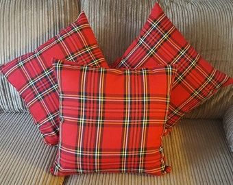 Red Tartan Cushion Covers