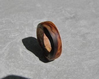 Handcrafted Olive Tree Wood Ring for the gentlemen