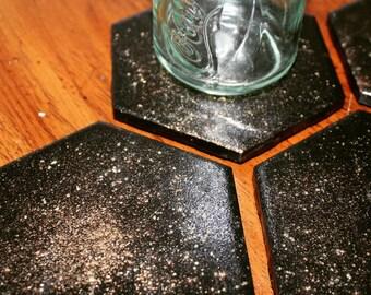 Ceramic Galaxy Coaster Set