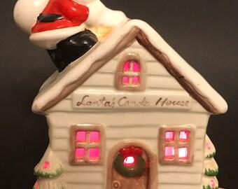 Vintage Lighted Christmas Village House