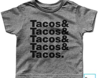 Tacos & Tacos | Taco Lover Shirt | Funny Taco Shirt | Tacos Shirt | Taco Tuesday Shirt | Tacos | Funny Shirt | Kids Taco Shirt | Kids Te