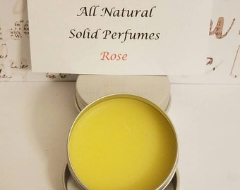 All natural solid perfume - Rose