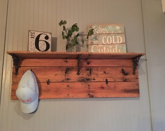 Pallet Coffee Mug Shelf with free shipping!