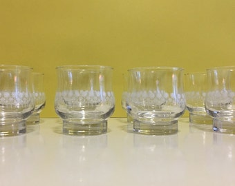 Vintage Dominion Glass Juice Glasses