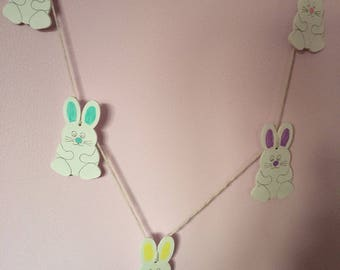 Easter bunny bunting, easter bunting, easter decorations, bunny decoration, cute bunting