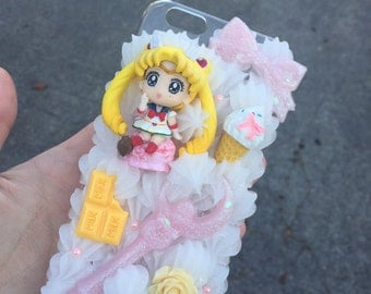 ON SALE ice cream sailor moon decoden case for iphone 6/6s