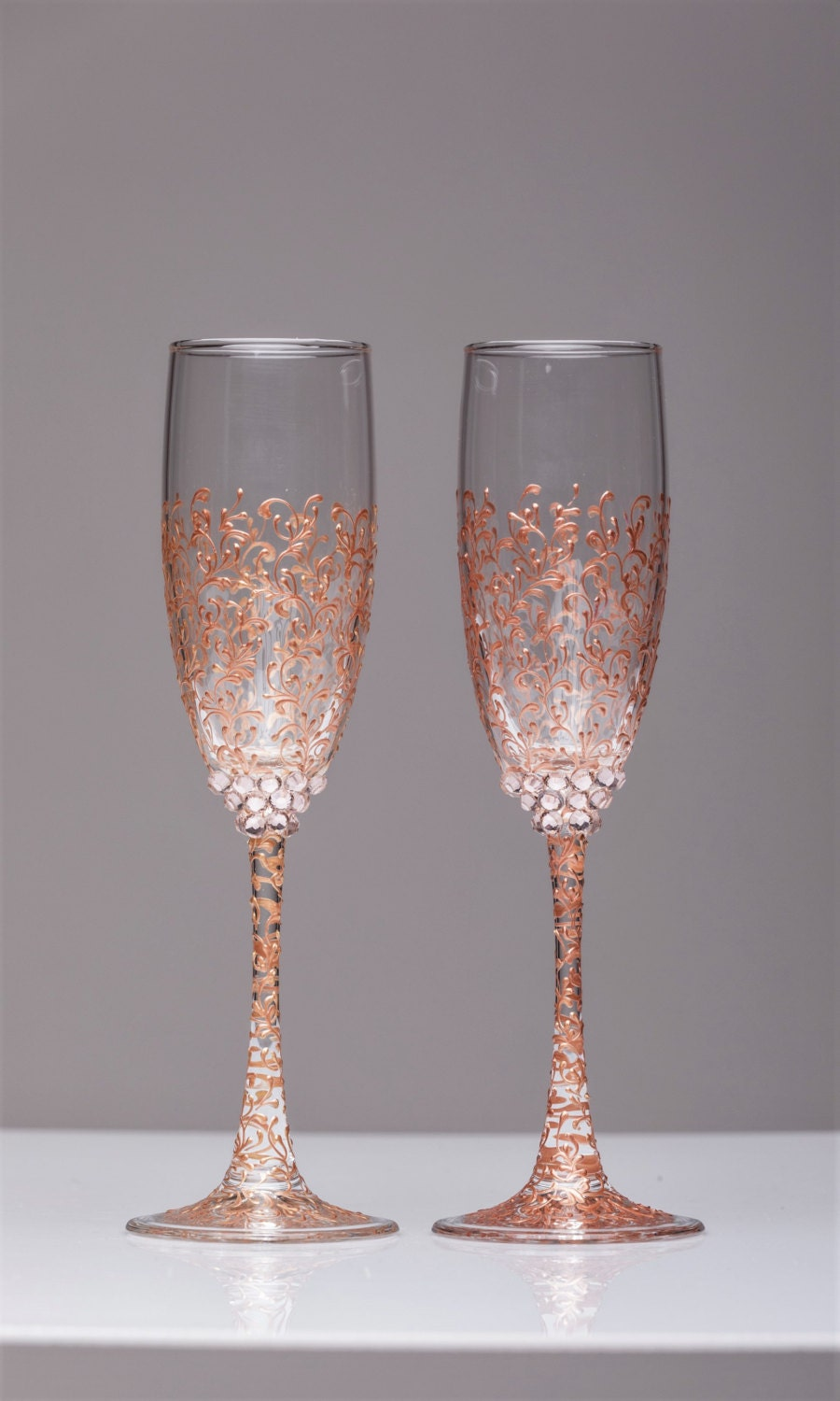personalized wedding glasses rose gold personalized glasses