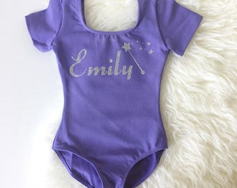 Personalize leotard with name and text Choice, Girls Leotard, Kids Ballet/Gymnastics Leotard, Toddler Leotards, Custom birthday Leotard