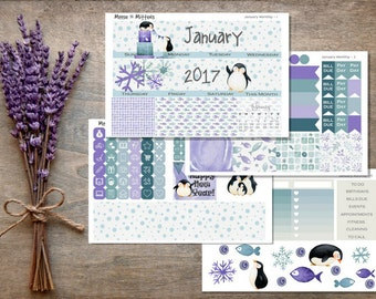 January 2017 Monthly Planner Sticker Kit