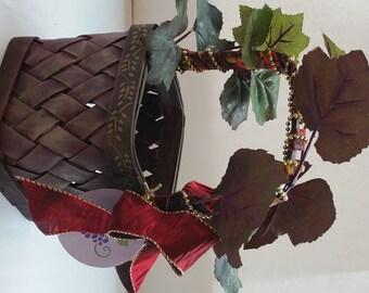 "Small Wine Gift Basket ""La Piccola Vita"" ""Little Gems Series"" ""RUBY"""