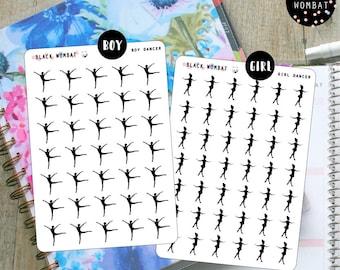 Girl/Boy Dancer Planner Stickers - Erin Condren V - MulberryPOP V - Various Planners