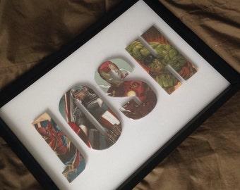 Personalised Superhero frames
