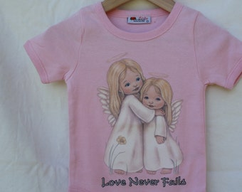 Love Never fails pink onesie