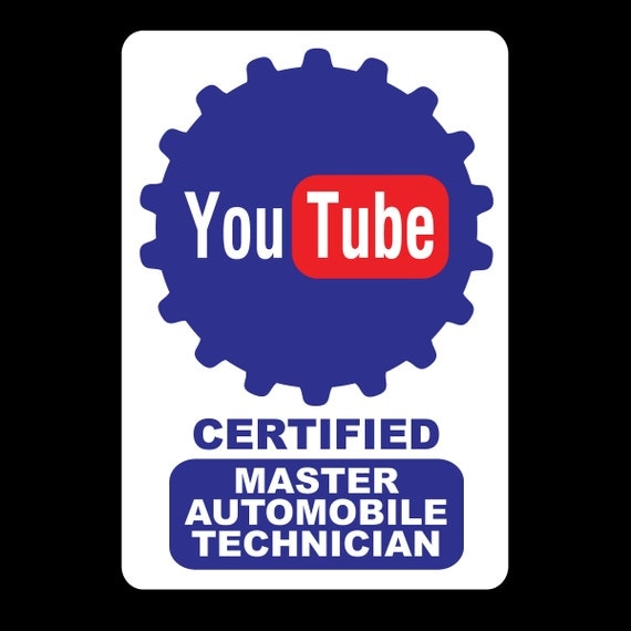 YouTube Certified Joke Vinyl Sticker (Multiple Color Options) from ...