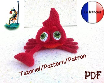 Tutorial / pattern, format pdf in french, amigurumi crab version salamandingue