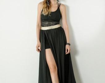 Open Wide Chiffon Skirt,Woman Skit,Long Skirt,Wide Long Skirt,Trend Skirt,Chiffon Skirt//,Black Skirt,//#JADE//Size-Small,Medium,Large