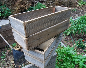 Small Recycled Timber Planter Box