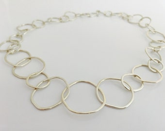 Sterling Silver  Full Link Necklace